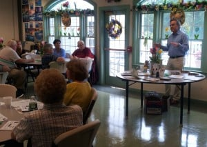 Dr. Soufer speaks about diabetes at the Prospect Senior Center